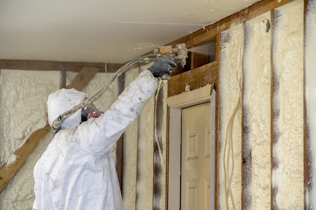 Colorado wall insulation process